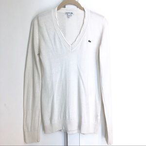 Lacoste Ivory Sweater - Cashmere/Cotton - Size 38